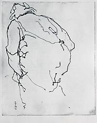 Kaltnadel auf Kupfer Pl: 28x23cm